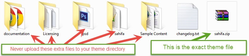 آپلود فایل اصلی قالب